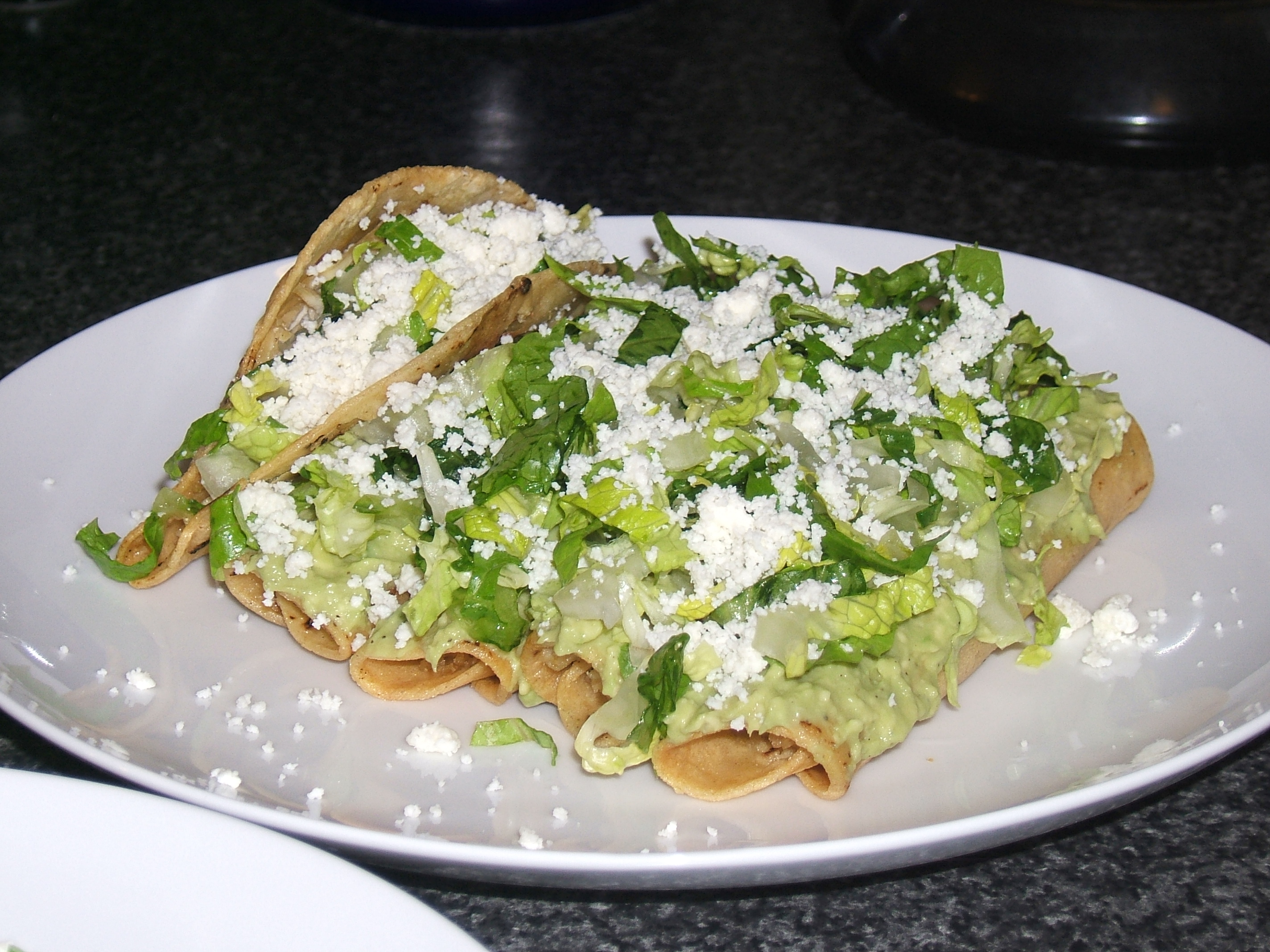 Flautas, and a taco